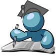 Иконка. Пишущий человек. . Центр правовых исследований и развития законодательства